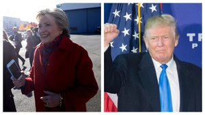Hillary Clinton and Donald Trump are campaigning in a handful of key battleground states