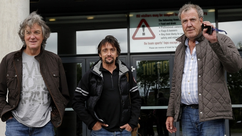 "Hammond, centre, with May (L) and Clarkson (R) - ""I'll never get the chance to work with another bunch like that lot"""