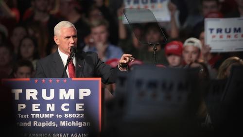U.S Vice-president elect Mike Pence