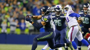 Jimmy Graham ran in two second-quarter touchdowns