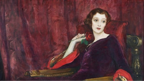 The Red Rose by Sir John Lavery, showing at The Crawford at the Castle exhibition at Dublin Castle.
