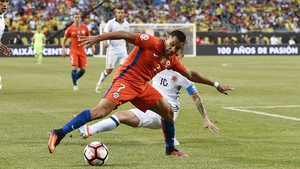 Alexis Sanchez in Copa America action for Chile