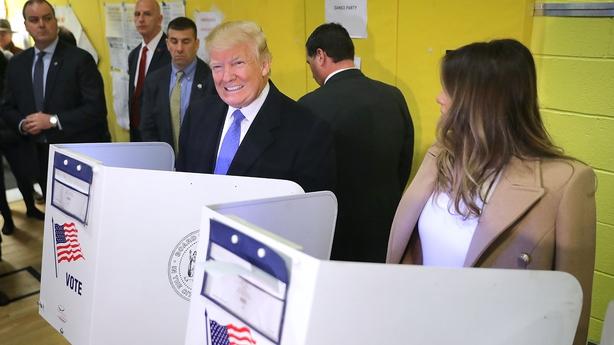 Donald Trump votes in Manhattan