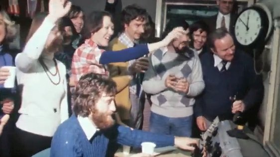 RTÉ Radio Staff at Final Broadcast from Henry Street (1976)