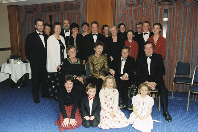Michael O'Hehir with President Mary Robinson and Members of his Family (1996)