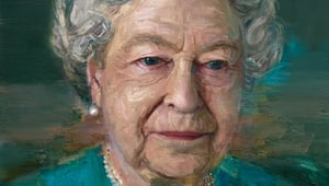 The portrait of Queen Elizabeth II by Irish painter Colin Davidson, unveiled in London last night.