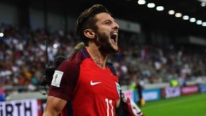 Adam Lallana celebrates his goal against Slovakia