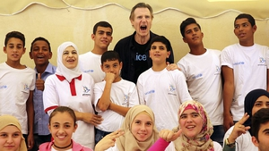 Liam Neeson visits young Syrian refugees in Jordan