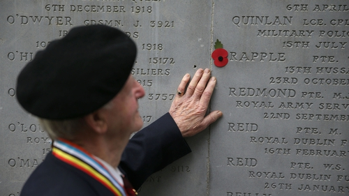 Some 30,000 Irish people died on the battlefields of Europe in WWI
