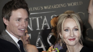 Eddie Redmayne and JK Rowling at the World Premiere of Fantastic Beasts in New York
