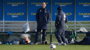 Martin O'Neill at training earlier this week