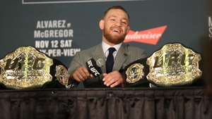 Conor McGregor during the UFC205 post fight press conference