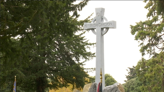 The new Ginchy Cross in Glasnevin Cemetery