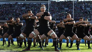 New Zealand perform the haka before their defeat to Ireland