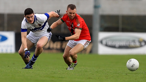 Diarmuid Connolly vies for possession with Palatine's Christopher Crowley