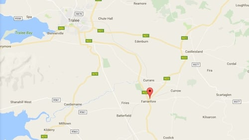 It is understood the incident occurred shortly after 4pm as the man was removing a hedge trimmer from a tractor in Farranfore, Co Kerry (Pic: Google Maps)