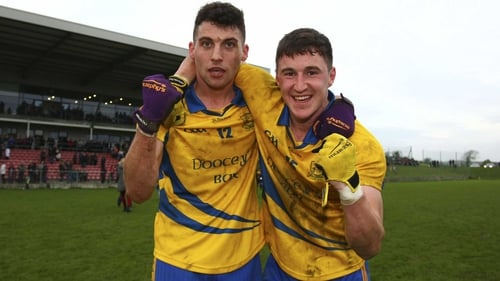 The Nire's Shane Ryan and Conor Gleeson celebrate progressing to the Munster final