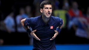 Novak Djokovic celebrates a successful comeback at the 02