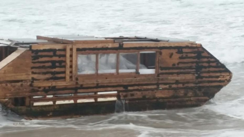 Mystery owner of washed-up solar houseboat revealed
