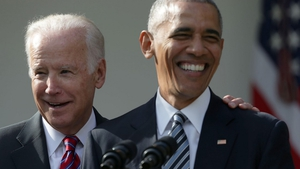 The Obama-Biden bromance, popularised on social media toward the end of their tenure, could be part of the project