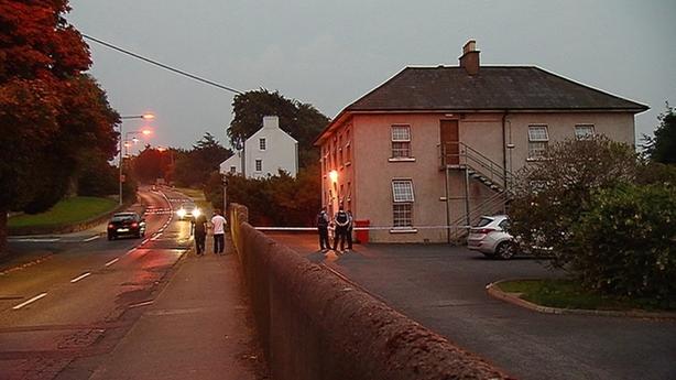 Gardaí at the scene in September 2014