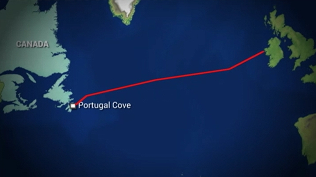 The route the boat travelled