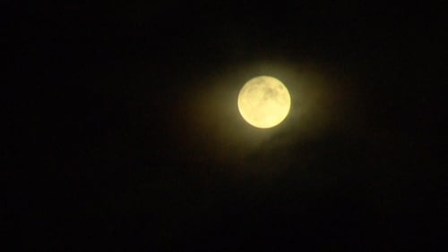 The moon pictured over Dublin tonight
