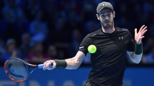 Andy Murray prepares to unleash a forehand at the 02
