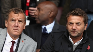 Lee Power (L) with Tim Sherwood