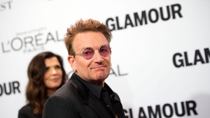 Bono and wife Ali at Monday night's Glamour Woman of the Year awards