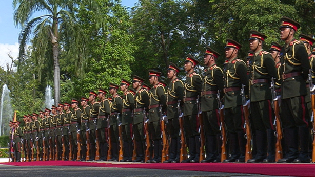 Guard of honour for President Higgins