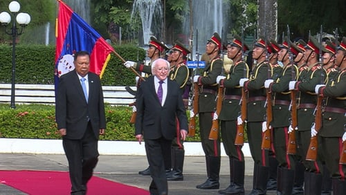 The visit by the President is the first by an Irish Head of State to the country