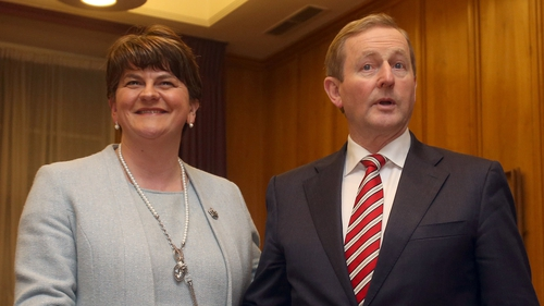 Taoiseach Enda Kenny with Northern Ireland First Minister Arlene Foster at Government Buildings, where they discussed Brexit