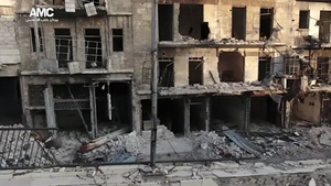 Syrian government forces and allied militia renewed a heavy bombardment of rebel-held eastern Aleppo this week