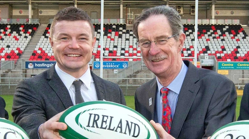 Brian O'Driscoll and Dick Spring