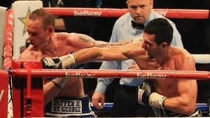 Carl Froch knocks out George Groves during the IBF & WBA World Super Middleweight Title Fight in 2014