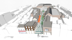 The 2.4-acre site on the main street in the town (previously known as the Florentine Centre) has been the subject of a number of retail-led development proposals since 1996