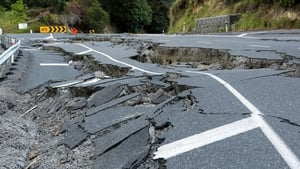 The 7.8 magnitude earthquake triggered landslides and caused major damage