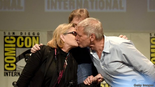 Carrie Fisher has denied reports that she slagged off Harrison Ford's eh, bedroom skills