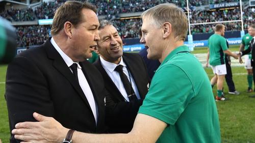 Steve Hansen insists Joe Schmidt's men are favourites for Saturday's clash