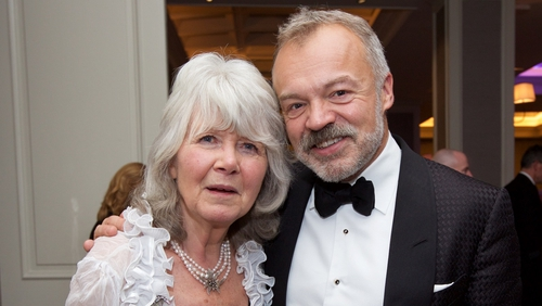 Lifetime Achievement Award winner Jilly Cooper and Popular Fiction Book of the Year winner Graham Norton