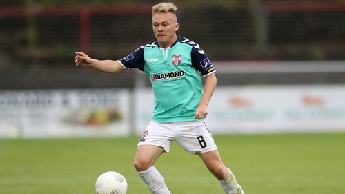Conor McCormack in action for Derry City back in 2016