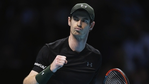Andy Murray weathered an early storm to take the first set 6-4.