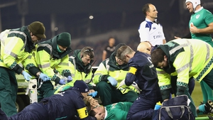 Robbie Henshaw was unable to continue after an early clash