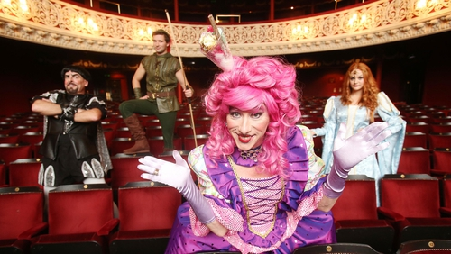 Oh yes they did! The cast of this year's Gaiety panto - you should see what they look like in costume...