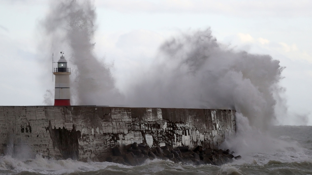 Newhaven, East Sussex is hit by Storm Angus