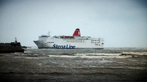 The ferry, with 87 passengers and 59 crew on board, reaches Fishguard port