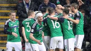 Northern Ireland players wore black armbands against Azerbaijan