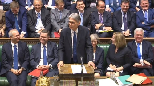 Philip Hammond said the UK's Office for Budget Responsibility now expects state borrowing to be £45.2 billion this year