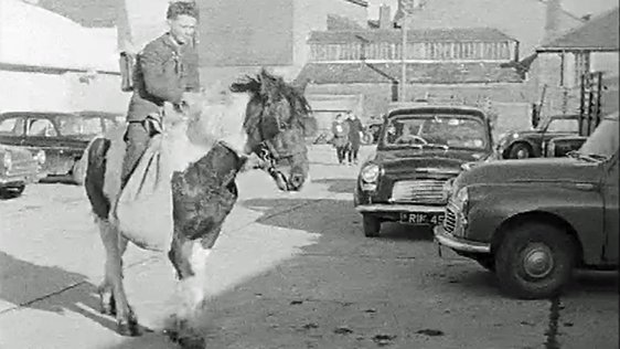 Michael Collins Travels to School on Horseback (1966)